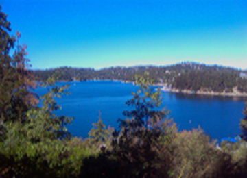 Lake Arrowhead Lakefront Home View